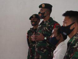 Satgas Yonarmed 6/3 Kostrad Gelar Sosialisasi New Normal Kepada Siswa-siswi di Perbatasan.