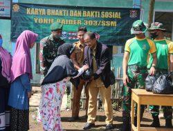 Yonif Raider 303 Kostrad Gelar Karya Bakti dan Bakti Sosial Dalam Rangka HUT Ke-76 TNI