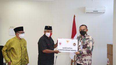 Menko PMK RI Berikan Bantuan 20 Ribu Masker ke Majelis Santri Indonesia