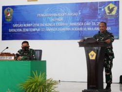 Berkekuatan 153 Prajurit, Asops Kasad Cek Kesiapan Operasi Satgas Operasi Satgas Kompi Zeni TNI Konga XXXVII-H/Minusca Car Tahun 2021 Yonzipur 17/AD