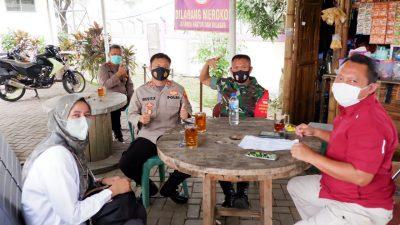 Kapolsek Panongan Polresta Tangerang bersama Forkopimcam melaksanakan Rakor Membahan Program Vaksin di Kecamatan Panongan