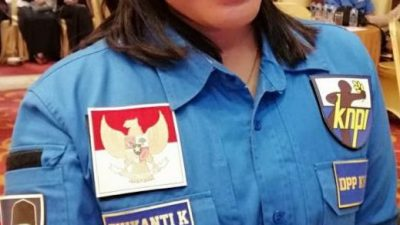 Ketua DPP KNPI Olahraga Dewi batubara mengucapkan selamat atas peraih piala Thomas.