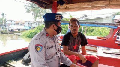 Sat Polairud Polresta Tangerang Imbau Tingkatkan Prokes Bagi Nelayan Di Desa Kronjo